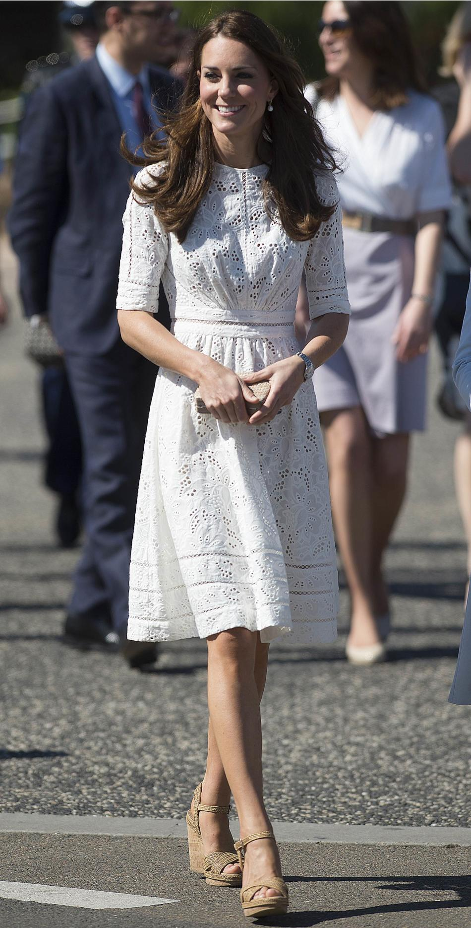 Catherine, Britain's Duchess of Cambridge, arrives at the Royal Easter Show in Sydney