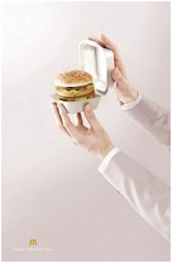 The Good, Bad & Ugly: Valentines Day Ads image Hamburger