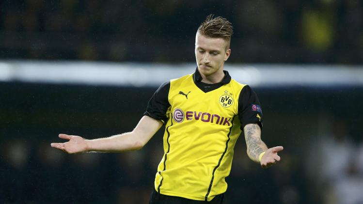 Borussia Dortmund's Reus reacts during Champions League soccer match against Arsenal in Dortmund