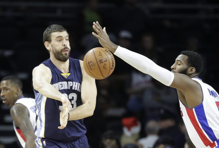 Marc Gasol matched a career high with 38 points on Wednesday. (Associated Press)