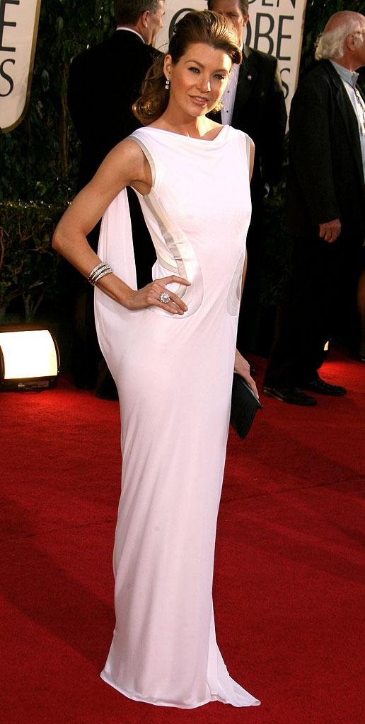 Ellen Pompeo at The 64th annual Golden Globe Awards.