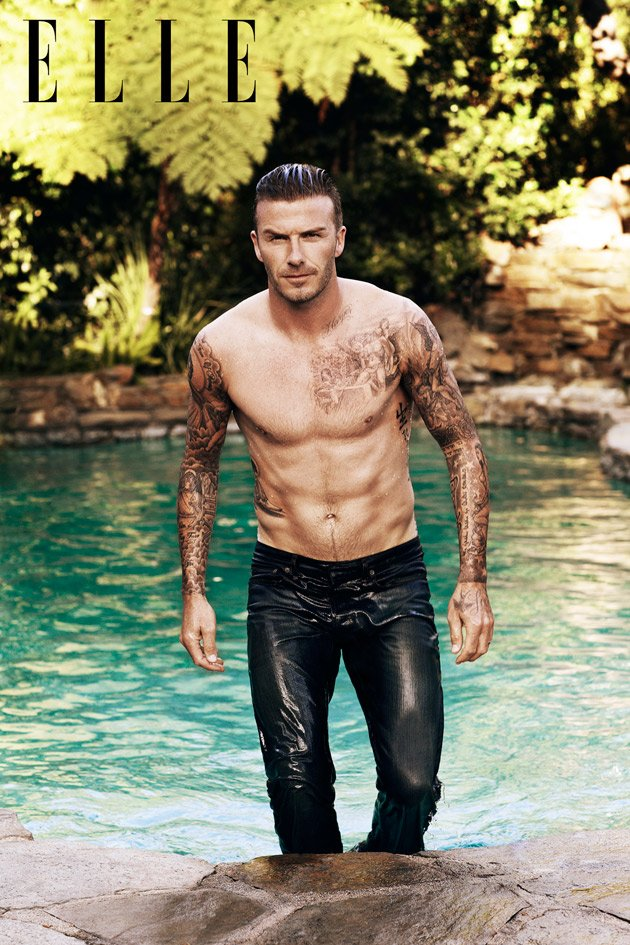 David Beckham ELLE topless