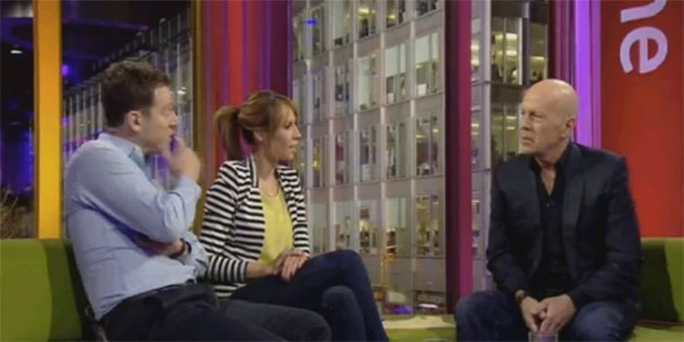 Cringe... Willis' dreadful 'One Show' appearance (Credit: BBC Iplayer)