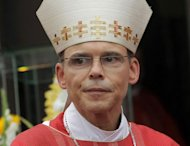 Bishop of Limburg Franz-Peter Tebartz-van Elst at a mass in Koenigstein, central Germany on September 15, 2013