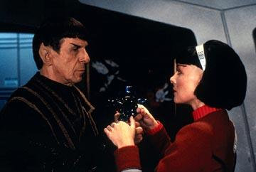 Leonard Nimoy and Kim Cattrall in Paramount's Star Trek VI