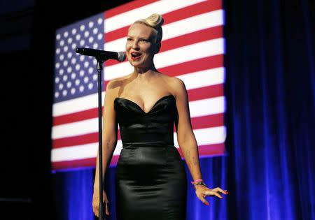 Sia performs at the DNC LGBT gala in New York City