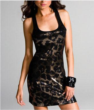 Long And Lean Tank - Leopard Sequin - $49.50