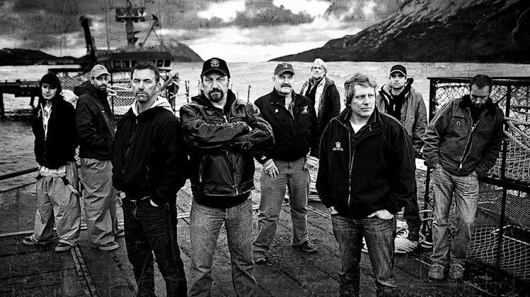 "Jake Harris, Josh Harris, Captain Andy Hillstrand, Captain Johnathan Hillstrand, Captain Keith Colburn, Captain Bill Wichrowski, Captain Sig Hansen, Jake Anderson, Edgar Hansen star in ""Deadliest Catch."""
