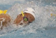 Italy's Federica Pellegrini competes in the final of the women's 200-metre freestyle swimming event in the 31st European Swimming Championships in Debrecen. Pellegrini dominated the race to win gold