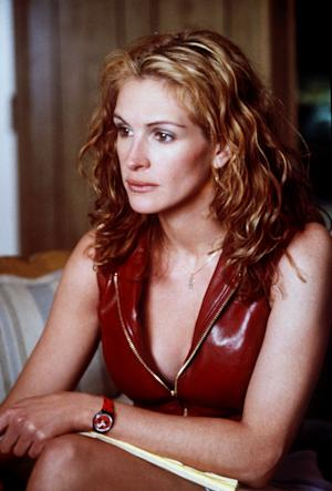 "FILE - In this undated film publicity photo originally released by Universal Studios, actress Julia Roberts is shown in a scene from ""Erin Brockovich."" (AP Photo/Universal Studios, Bob Marshak, file)"