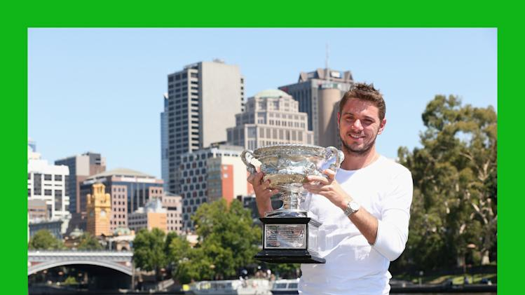***BESTPIX***Australian Open 2014 - Men's Champion Photocall