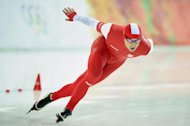 Poland's Zbigniew Brodka competes in the Men's Speed Skating 1500m at the Adler Arena during the Sochi Winter Olympics on February 15, 2014