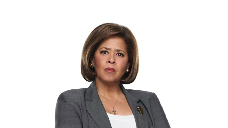 "Anna Deavere Smith as Mrs. Akalitus in ""Nurse Jackie."""