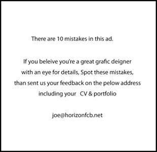 10 Creative Recruitment Ads image there are 10 mistakes in this ad