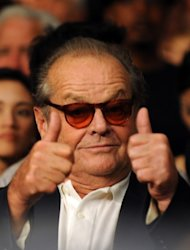 Actor Jack Nicholson has been nominated 12 times and won three times, as best leading actor