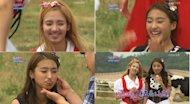 Bora and Hyoyeon gets drawings on their face by losing in a game