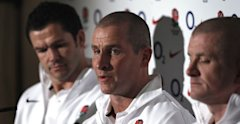 Stuart Lancaster, Andy Farrell and Graham Rowntree are unveiled at Twickenham