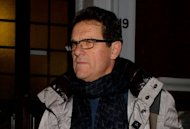 Former England coach Fabio Capello, pictured in February 2012, is not in talks with Champions League finalists Chelsea, his son said Friday