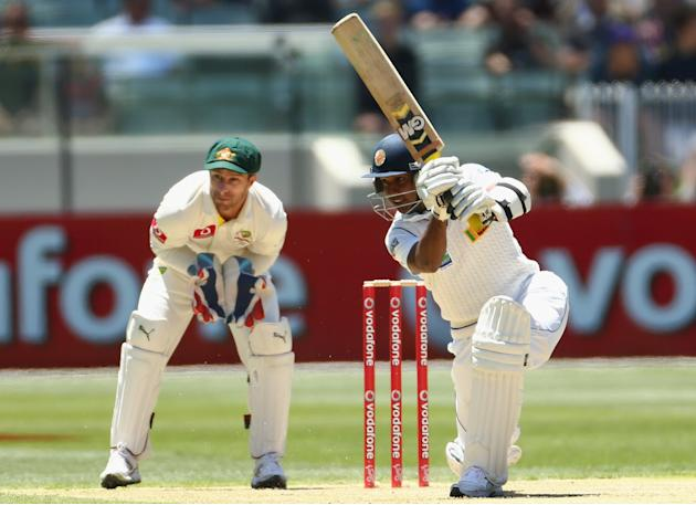 Prasanna Jayawardene of Sri Lanka bats during day one of the Second Test match between Australia and Sri Lanka at Melbourne Cricket Ground on December 26, 2012 in Melbourne, Australia. (Robert Cianflo