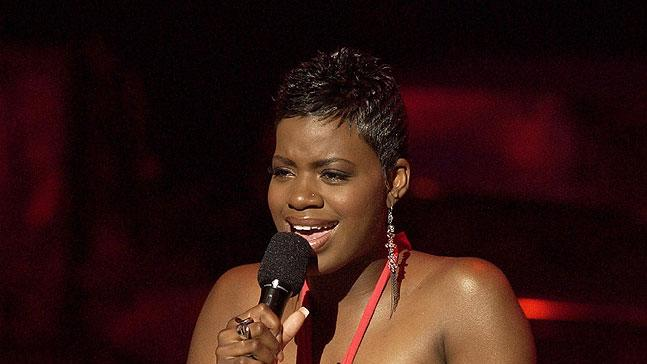 Fantasia Barrino performs in the Kodak Theatre in Hollywood on American Idol Season 3.