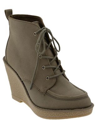 Old Navy Lace-Up Wedge Boots