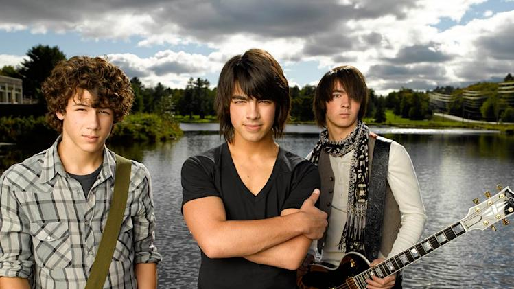 "Nick Jonas as ""Nate,"" Joe Jonas as ""Shane Gray"" and Kevin Jonas as ""Jason"" star in Camp Rock."