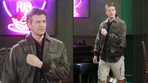 Jack Wagner on the set of 'General Hospital as Frisco Jones -- ABC