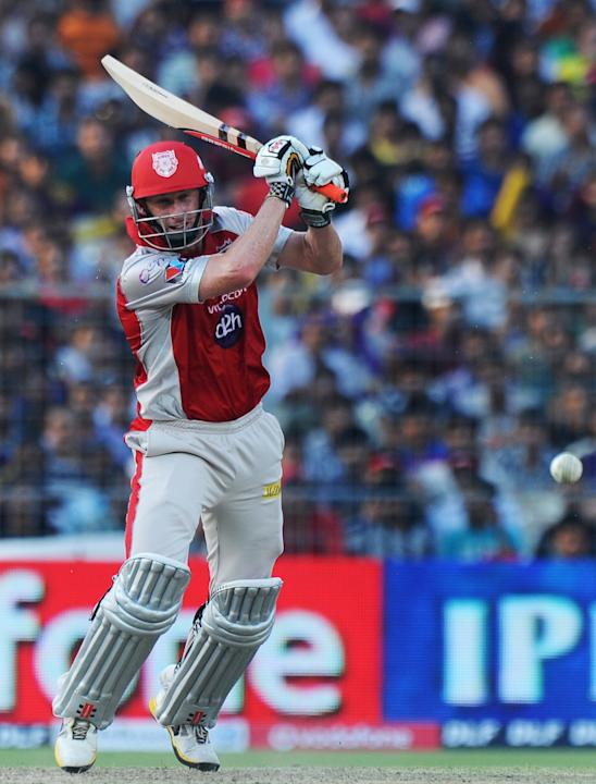 Kings XI Punjab batsman David Hussey pla