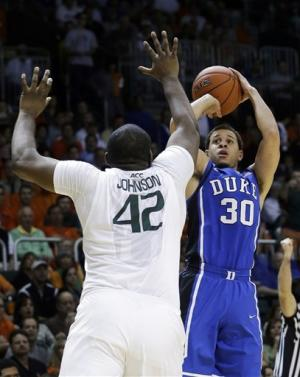 No. 1 Duke routed by No. 25 Miami 90-63