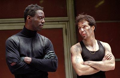 Isaiah Washington and Sam Rockwell in Welcome To Collinwood