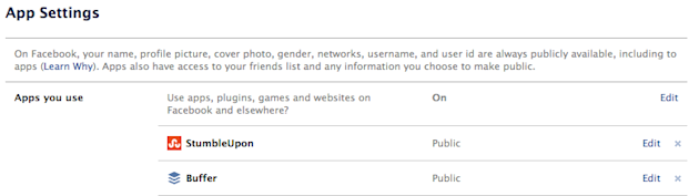 Are You Hiding Your Own Facebook Posts? image Facebook App Settings