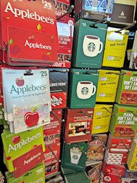 Gift cards at the supermarket