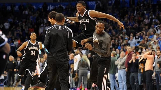 Basketball - Johnson gives Nets late victory over Thunder