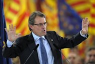 The leader of Spain's Catalonia region, Artur Mas, vowed on Friday to fight for the 'future of our nation' before a roaring crowd of supporters, ahead of weekend elections that could lead to a popular demand for statehood.