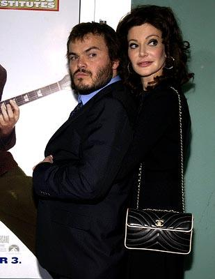 Premiere: Jack Black and Laura Kightlinger at the LA premiere of Paramount's The School of Rock - 9/24/2003