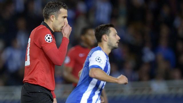Champions League - United settle for a point after Van Persie miss