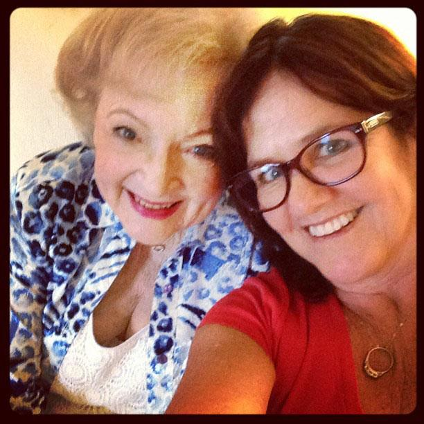 Betty White Yahoo! TV Instagram: Me and my pal Annie! -Betty. #bettywhite #hotlive #hotincleveland #tvland