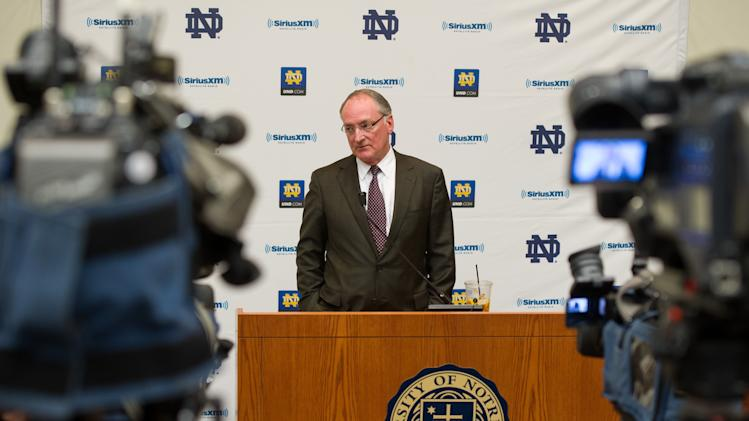 NCAA Football: Notre Dame-Press Conference