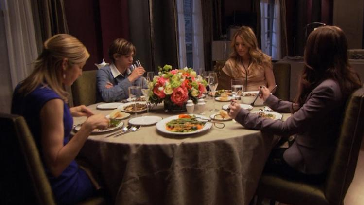 Oh no they didn't!: Georgina outs Eric at the dinner table (season 1, episode 16)