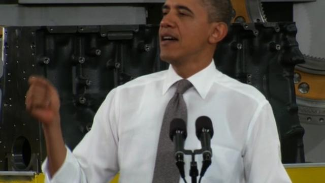 "Obama: ""I believe in manufacturing"""