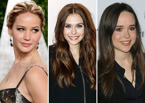 Jennifer Lawrence, Elizabeth Olsen and Ellen Page
