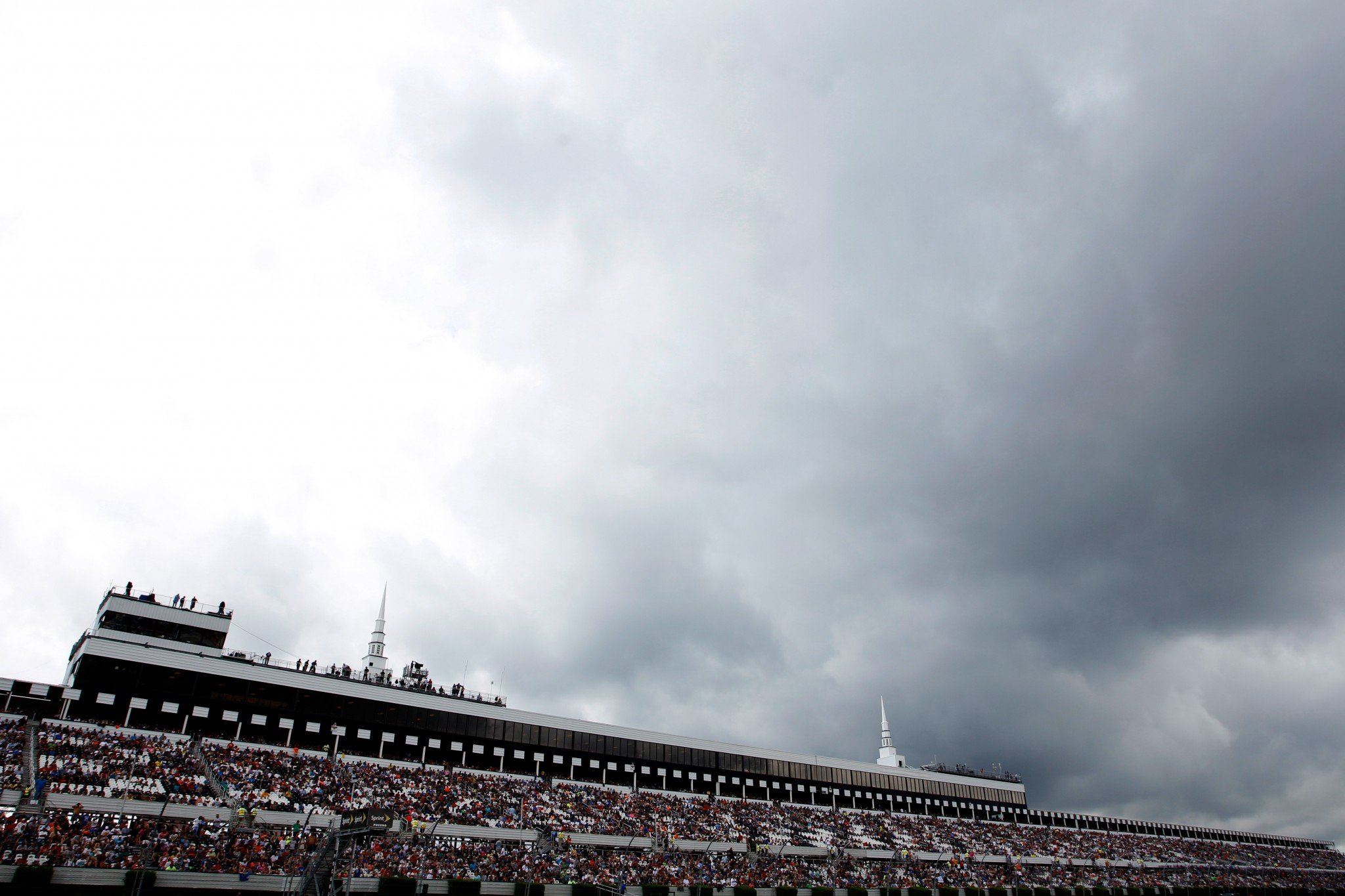 It rained Sunday at Pocono, the second time in 2016 a race has been delayed at the track (Getty).