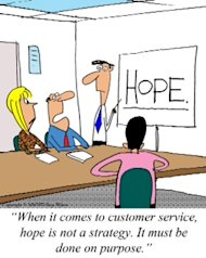 Purposeful Customer Service image Hope Cartoon