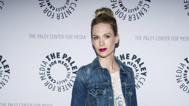 "January Jones from the cast of ""Man Men"" attends ""Mad-ness Returns to the Paley Center"" at The Paley Center for Media on Tuesday, April 23, 2013, in New York. (Photo by Charles Sykes/Invision/AP)"