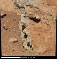 The Curiosity rover investigated an area on Mars named Hottah, which appears to be part of an ancient riverbed.