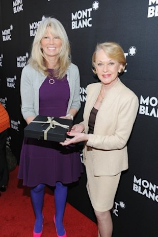 Actress Tippi Hedren was presented with the Montblanc Alfred Hitchcock Writing Instrument.