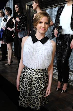Anna Chlumsky poses at the Alice + Olivia By Stacey Bendet Fall 2013 fashion show presentation during Mercedes-Benz Fashion Week at Highline Stages on February 11, 2013 -- Getty Images