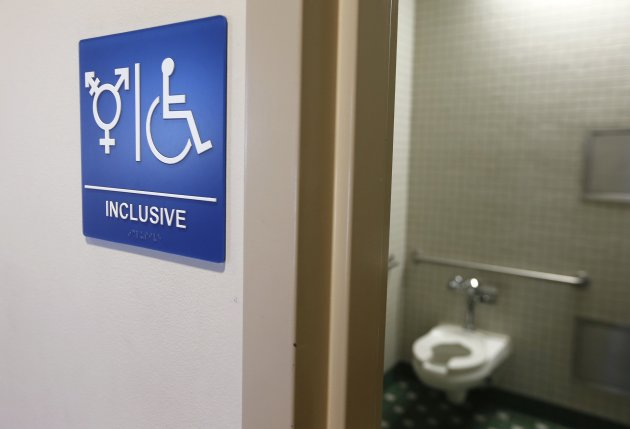 A gender-neutral bathroom is seen at the University of California. (Photo: Reuters)ATION SOCIETY POLITICS)