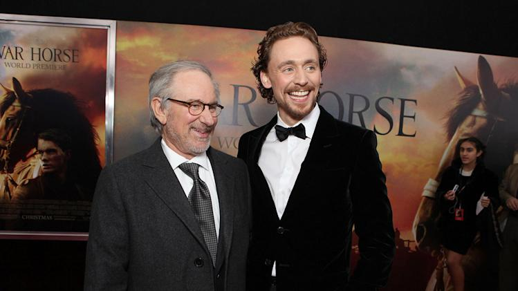 War Horse NYC Premiere 2011 Steven Spielberg Tom Hiddleston