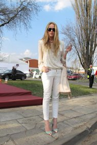 White Jean Wonder at Poland Fashion Week